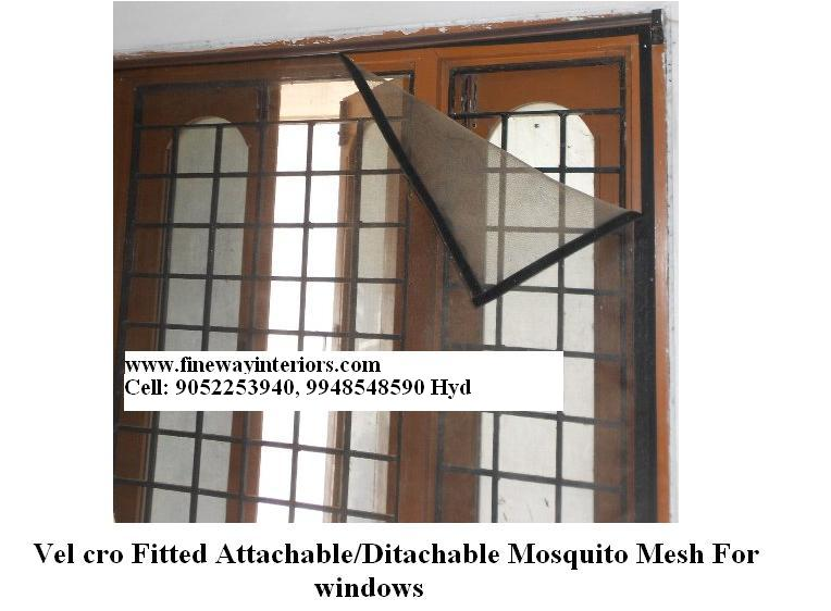 Detachable mosquito Mesh for windows